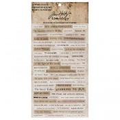 Tim Holtz Idea-ology Clipping Stickers - TH93583