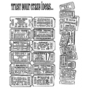 Tim Holtz Cling Mount Stamps - Admit One CMS003