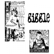 Tim Holtz Cling Mount Stamps - The Girls CMS020