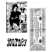 Tim Holtz Cling Mount Stamps - Traveling Friends CMS022