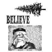 Tim Holtz Cling Mount Stamps - Just Believe CMS031