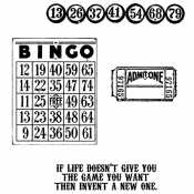 Tim Holtz Cling Mount Stamps - Game of Life CMS036