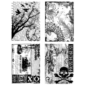 Tim Holtz Cling Mount Stamps - Ornate Collages CMS040
