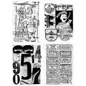 Tim Holtz Cling Mount Stamps - Classic Collages CMS041
