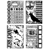 Tim Holtz Cling Mount Stamps - Creative Collages CMS044