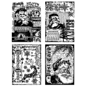 Tim Holtz Cling Mount Stamps - Holiday Collections CMS051