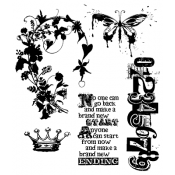 Tim Holtz Cling Mount Stamps - Fairy Tale Frenzy CMS058