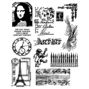 Tim Holtz Cling Mount Stamps - Mini Classics CMS062