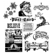 Tim Holtz Cling Mount Stamps - Mini Holidays CMS066
