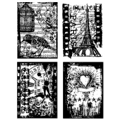 Tim Holtz Cling Mount Stamps - Random Gatherings CMS076