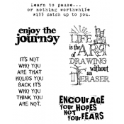 Tim Holtz Cling Mount Stamps - Just Thoughts CMS078