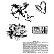 Tim Holtz Cling Mount Stamps - Love Struck CMS082