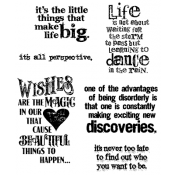 Tim Holtz Cling Mount Stamps - Good Thoughts CMS085