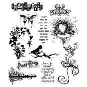 Tim Holtz Cling Mount Stamps - Urban Chic CMS086