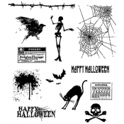 Tim Holtz Cling Mount Stamps - Mini Halloween CMS093