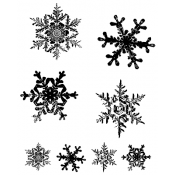 Tim Holtz Cling Mount Stamps - Grunge Flakes CMS098