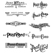 Tim Holtz Cling Mount Stamps - Postcards CMS099