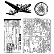 Tim Holtz Cling Mount Stamps - Air Travel CMS102
