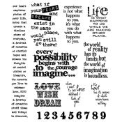 Tim Holtz Cling Mount Stamps - Stuff to Say CMS110