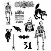 Tim Holtz Cling Mount Stamps - Mini Halloween 2 CMS113