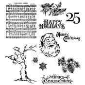 Tim Holtz Cling Mount Stamps - Mini Holidays 3 CMS114