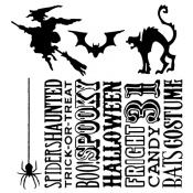 Tim Holtz Cling Mount Stamps - Halloween Silhouettes CMS115