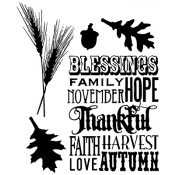Tim Holtz Cling Mount Stamps - Thankful Silhouettes CMS116