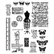 Tim Holtz Cling Mount Stamps - Attic Treasures CMS123