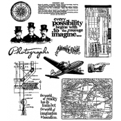 Tim Holtz Cling Mount Stamps - Warehouse District CMS124