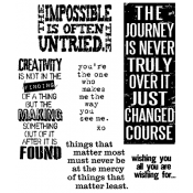 Tim Holtz Cling Mount Stamps - Words for Thought CMS132