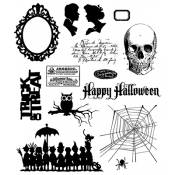 Tim Holtz Cling Mount Stamps - Mini Halloween 3 CMS140