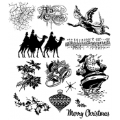 Tim Holtz Cling Mount Stamps - Mini Holidays 4 CMS142