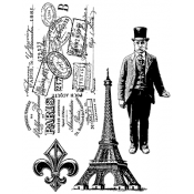 Tim Holtz Cling Mount Stamps - Paris Memoir CMS159