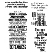 Tim Holtz Cling Mount Stamps - Way With Words CMS165