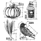 Tim Holtz Halloween Blueprint 2 CMS167