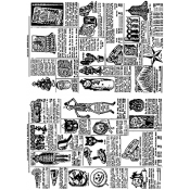 Tim Holtz Cling Mount Stamps - Seasonal Catalog 1 CMS174