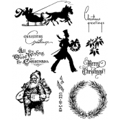 Tim Holtz Cling Mount Stamps - Mini Holiday 5 CMS177