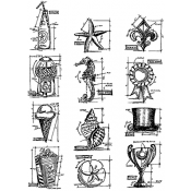Tim Holtz Cling Mount Stamps - Mini Blueprints 6 CMS196