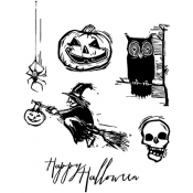 Tim Holtz Cling Mount Stamps - Carved Halloween CMS197