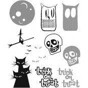 Tim Holtz Cling Mount Stamps - Halftone Halloween CMS199