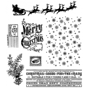 Tim Holtz Cling Mount Stamps - Christmas Nostalgia CMS207