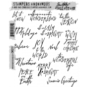 Tim Holtz Cling Mount Stamps - Mini Handwritten CMS211