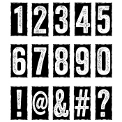 Tim Holtz Cling Mount Stamps - Number Blocks CMS222