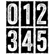 Tim Holtz Cling Mount Stamps - Big Number Blocks CMS223