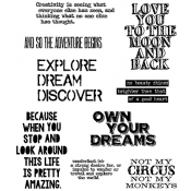 Tim Holtz Cling Mount Stamps - Life Quotes CMS227