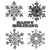 Tim Holtz Cling Mount Stamps - Weathered Winter CMS245