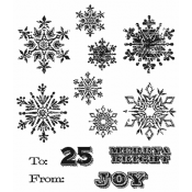 Tim Holtz Cling Mount Stamps - Mini Weathered Winter CMS246