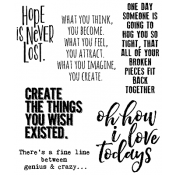 Tim Holtz Cling Mount Stamps - Ponderings CMS252