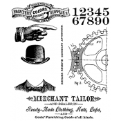 Tim Holtz Cling Mount Stamps - Dapper CMS267