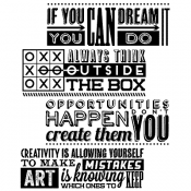 Tim Holtz Cling Mount Stamps - Motivation 1 CMS289